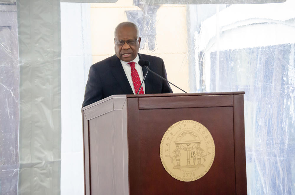 photo of Associate Justice Clarence Thomas