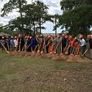 Photo of ground breaking ceremony